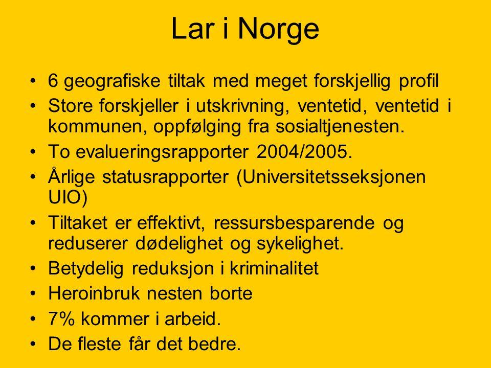 Lar i Norge 6 geografiske tiltak med meget forskjellig profil
