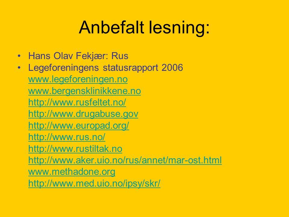 Anbefalt lesning: Hans Olav Fekjær: Rus