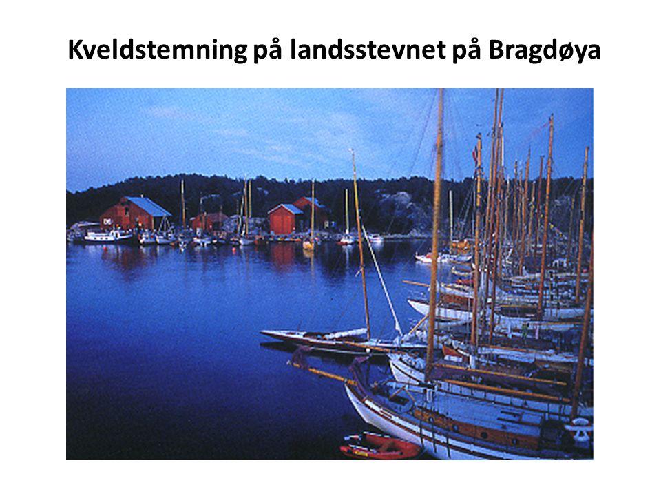 Kveldstemning på landsstevnet på Bragdøya