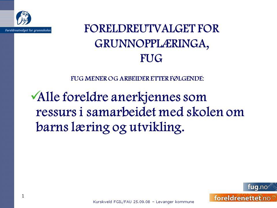 FORELDREUTVALGET FOR GRUNNOPPLÆRINGA, FUG