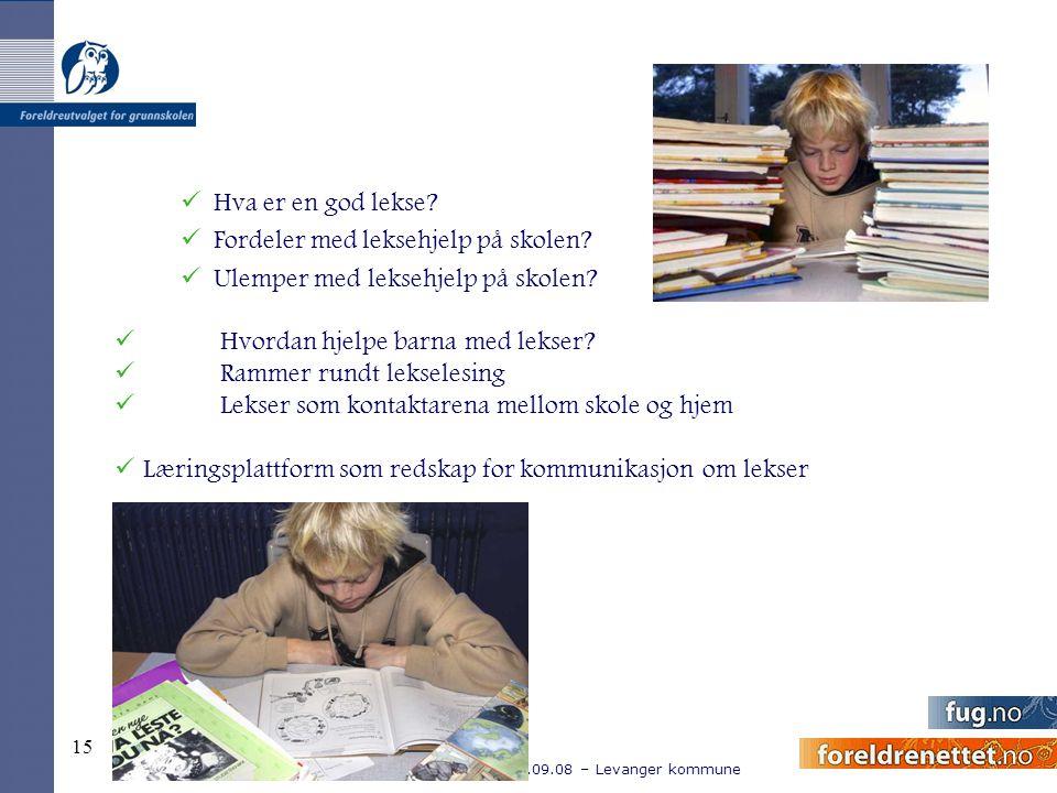 Hva er en god lekse Fordeler med leksehjelp på skolen Ulemper med leksehjelp på skolen Hvordan hjelpe barna med lekser