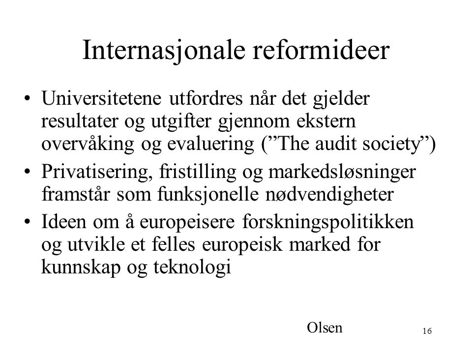 Internasjonale reformideer