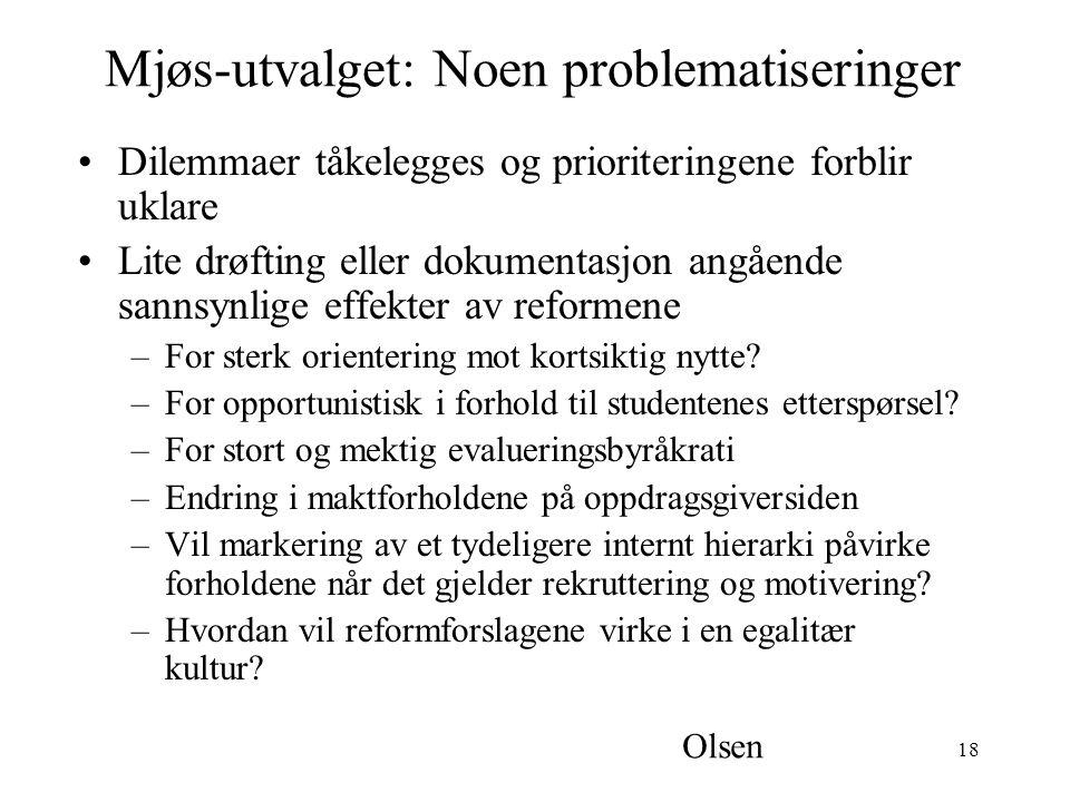 Mjøs-utvalget: Noen problematiseringer