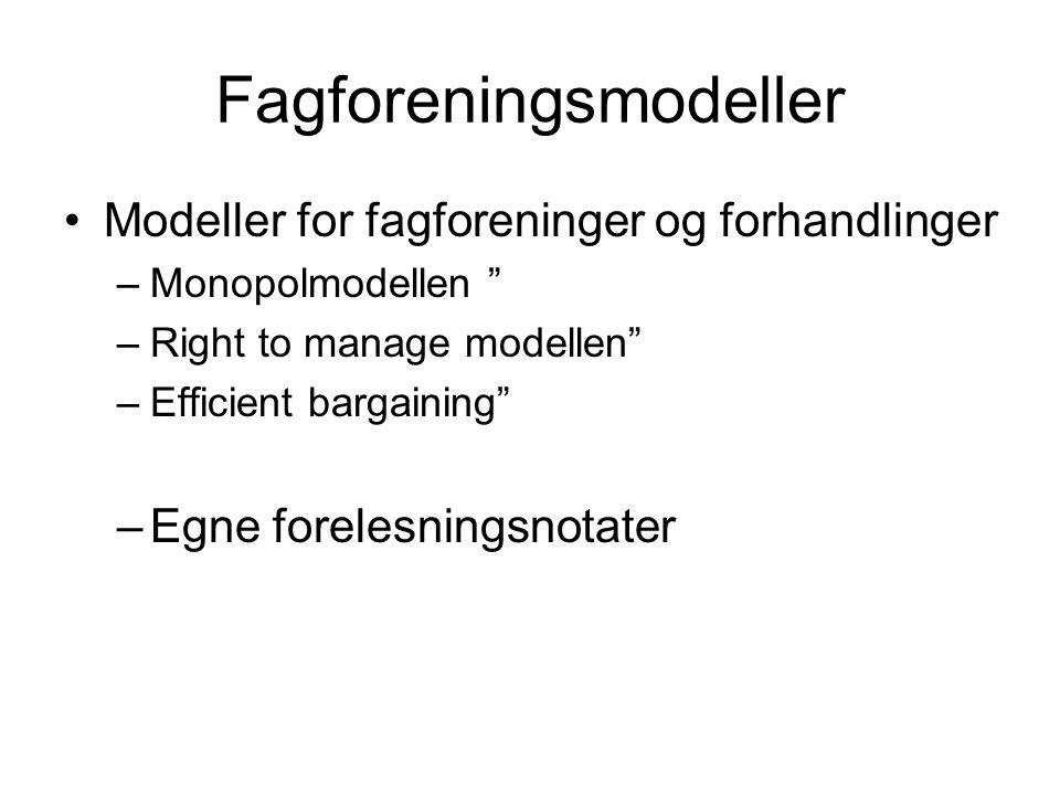 Fagforeningsmodeller