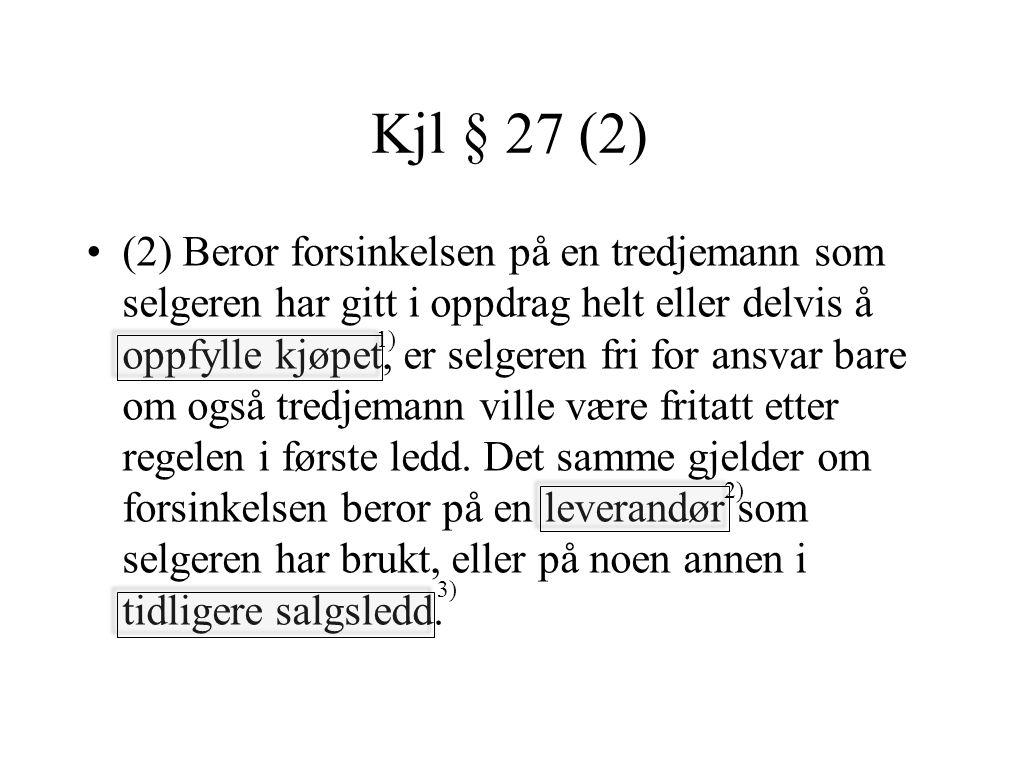 Kjl § 27 (2)