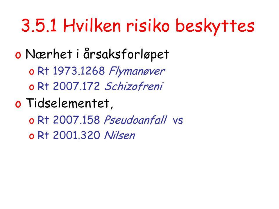3.5.1 Hvilken risiko beskyttes
