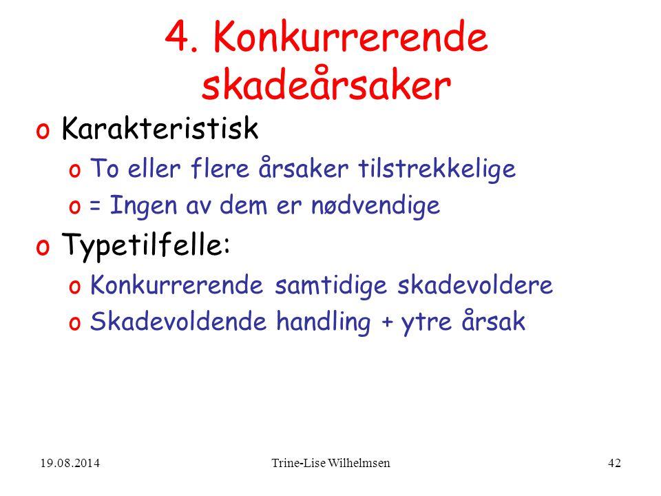 4. Konkurrerende skadeårsaker