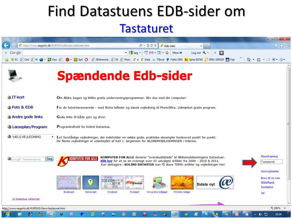 Find Datastuens EDB-sider om Tastaturet