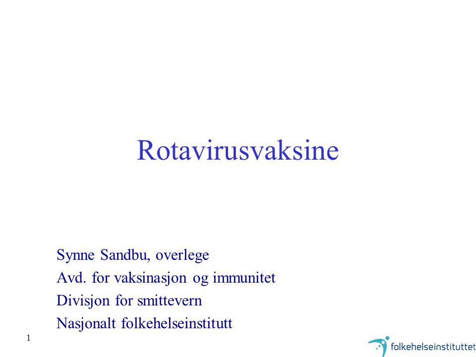 Rotavirusvaksine Synne Sandbu, overlege