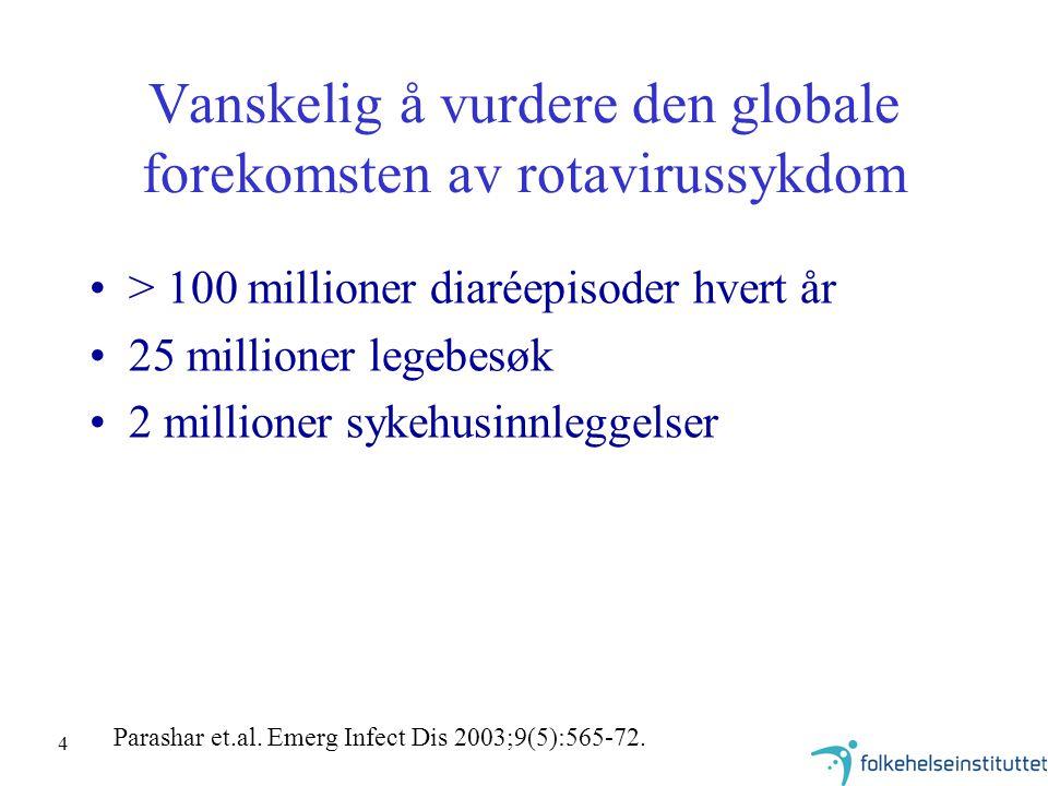 Vanskelig å vurdere den globale forekomsten av rotavirussykdom