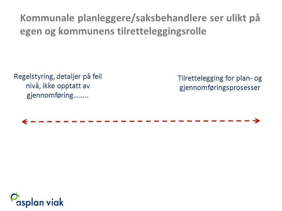 Kommunale planleggere/saksbehandlere ser ulikt på egen og kommunens tilretteleggingsrolle