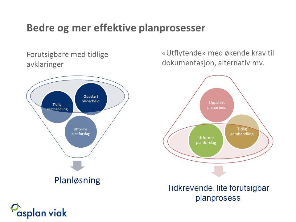 Bedre og mer effektive planprosesser