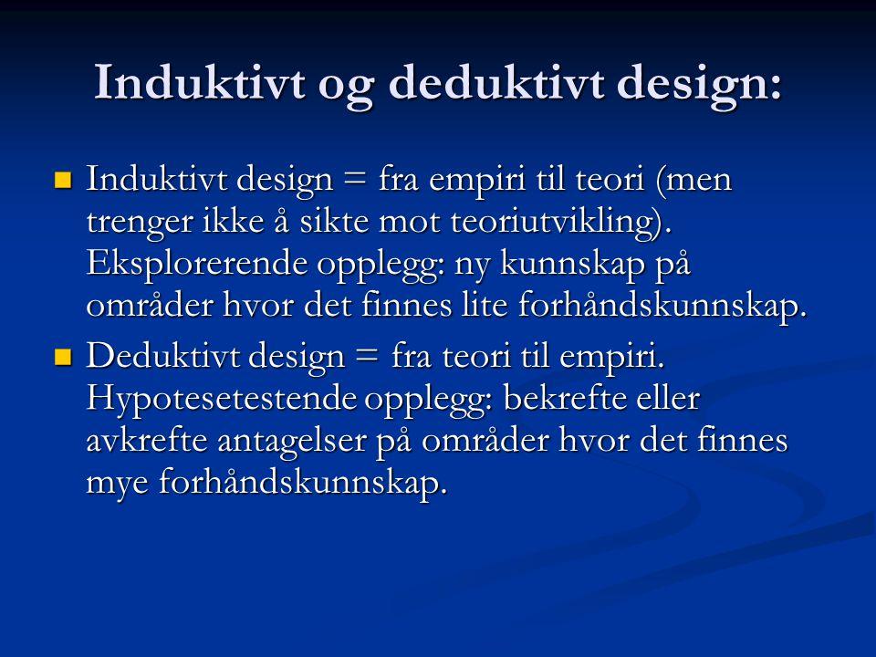 Induktivt og deduktivt design: