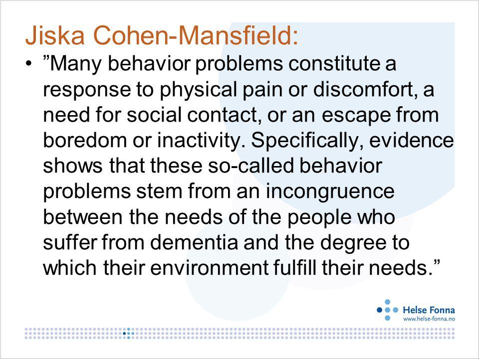 Jiska Cohen-Mansfield: