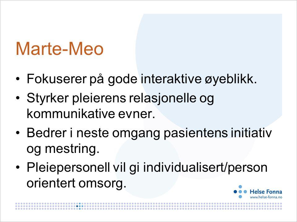 Marte-Meo Fokuserer på gode interaktive øyeblikk.