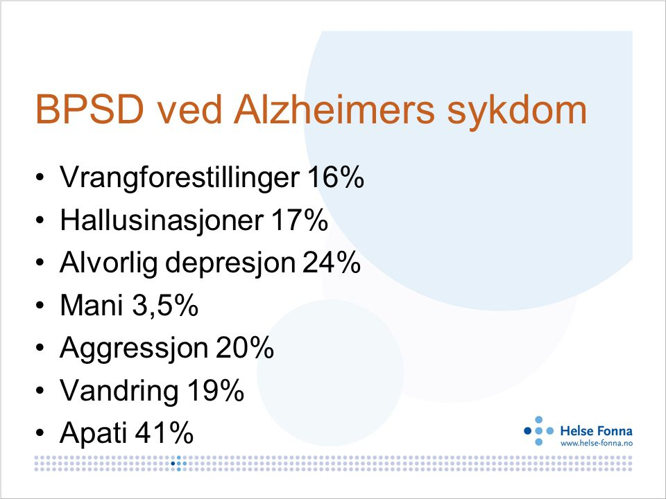 BPSD ved Alzheimers sykdom