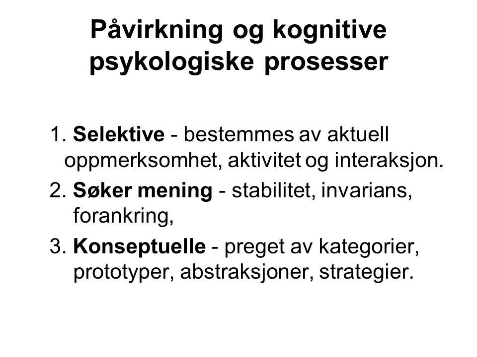 Påvirkning og kognitive psykologiske prosesser