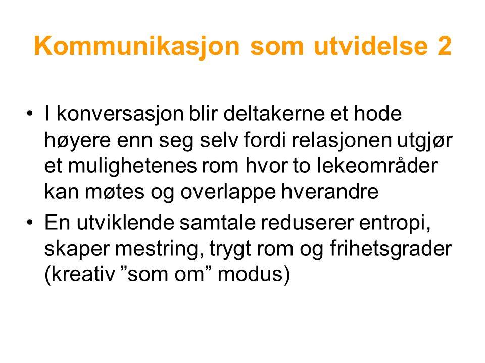 Kommunikasjon som utvidelse 2