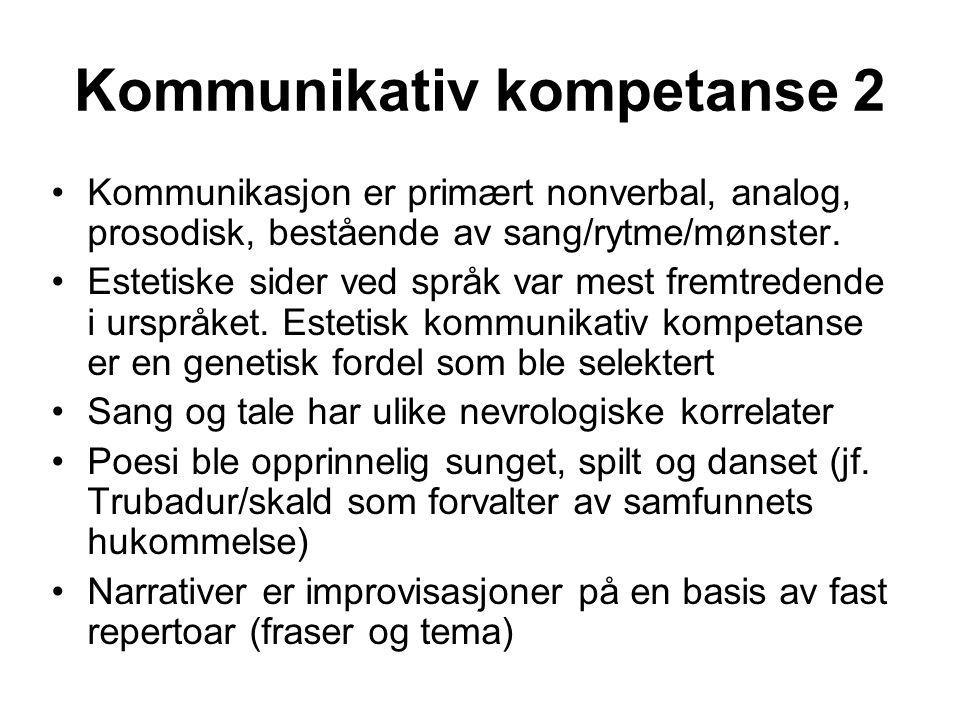 Kommunikativ kompetanse 2