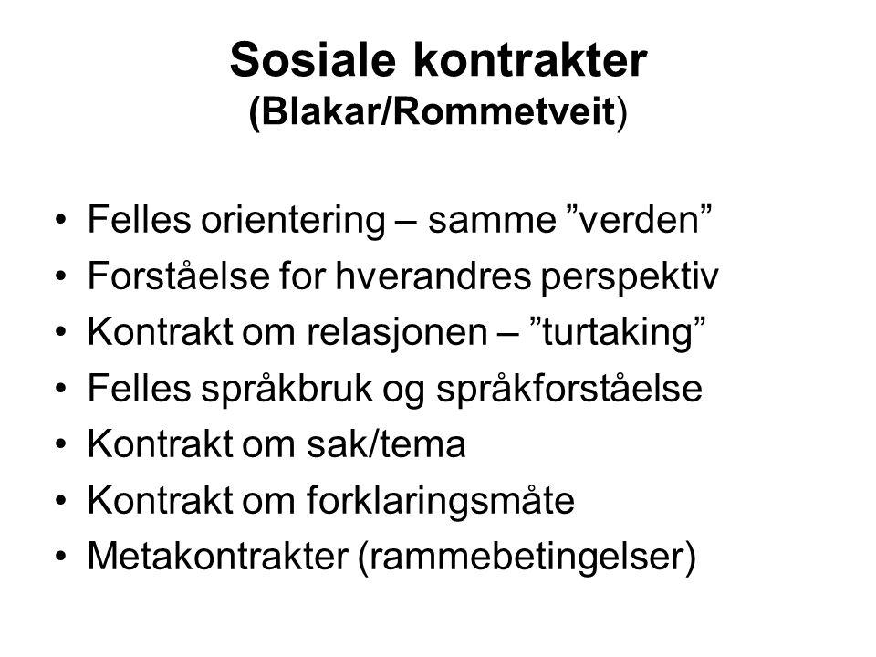 Sosiale kontrakter (Blakar/Rommetveit)