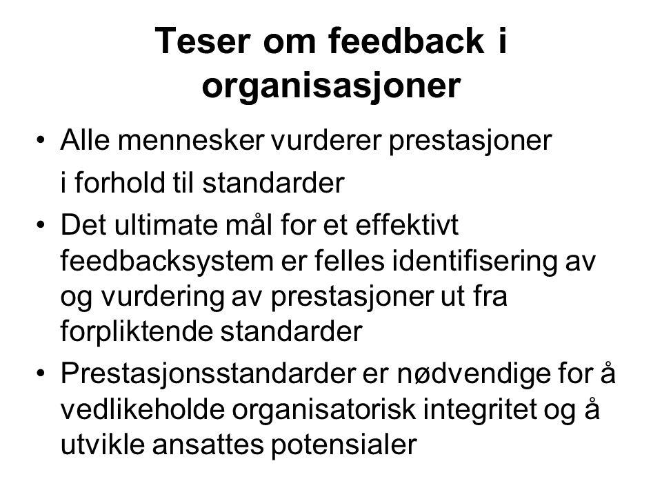 Teser om feedback i organisasjoner