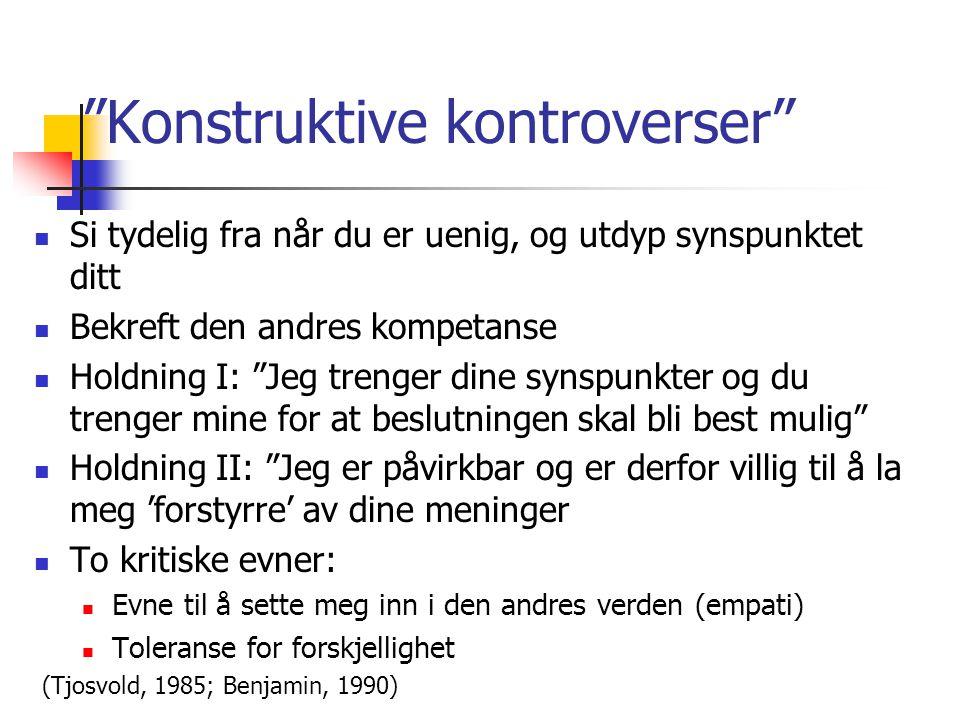 Konstruktive kontroverser