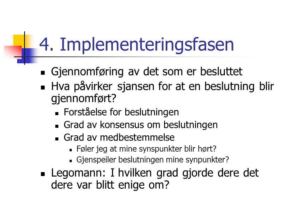 4. Implementeringsfasen