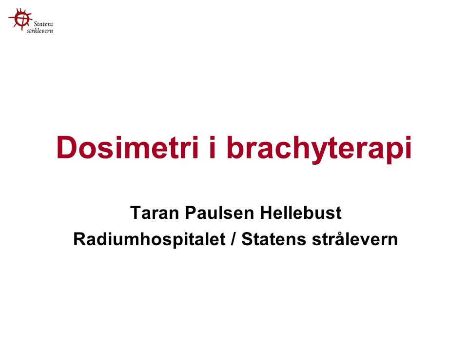 Dosimetri i brachyterapi