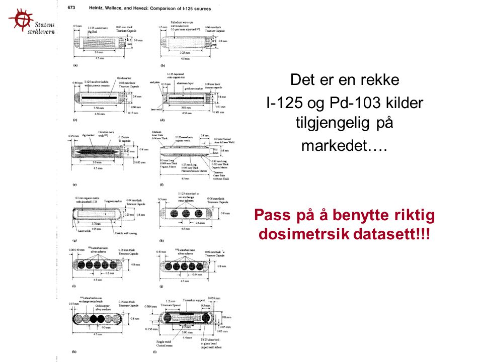 Pass på å benytte riktig dosimetrsik datasett!!!
