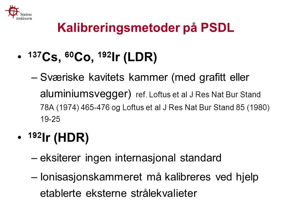 Kalibreringsmetoder på PSDL