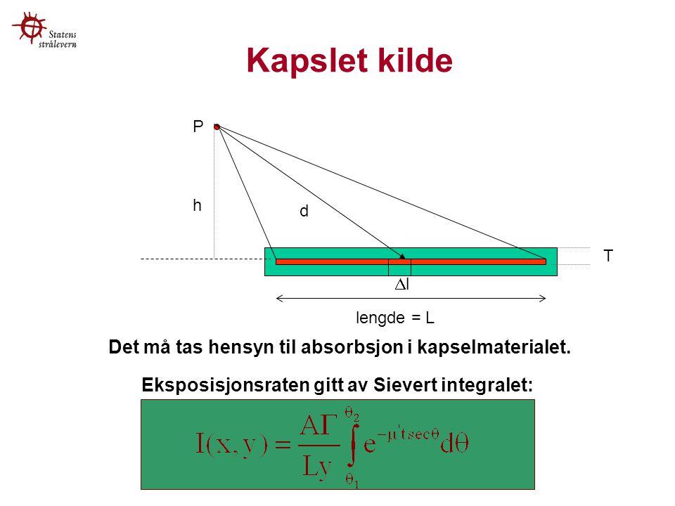 Eksposisjonsraten gitt av Sievert integralet: