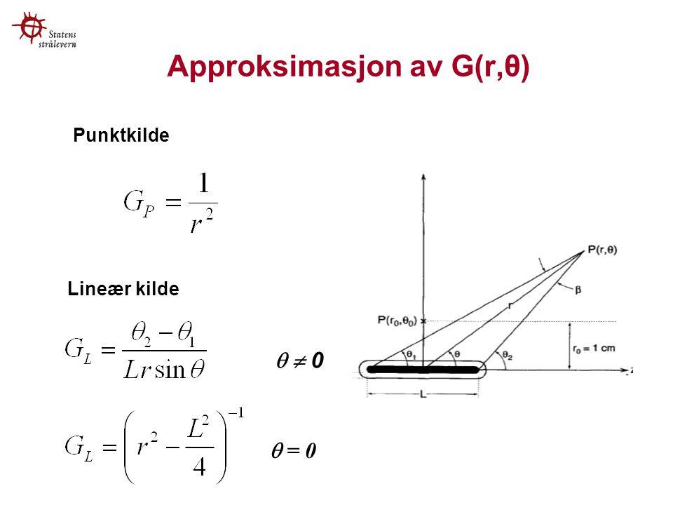 Approksimasjon av G(r,θ)