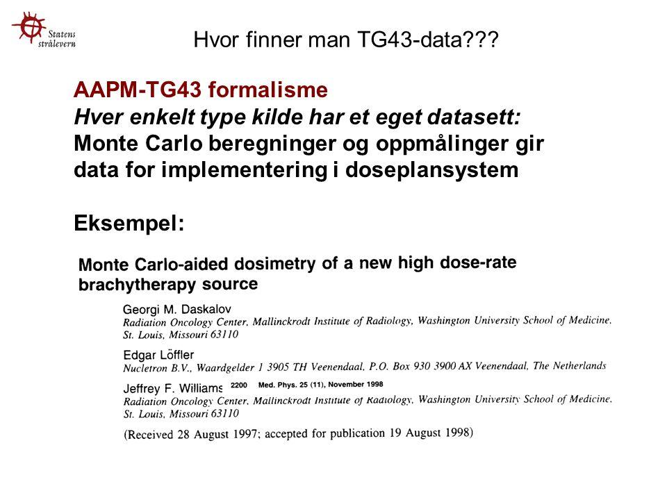 Hvor finner man TG43-data