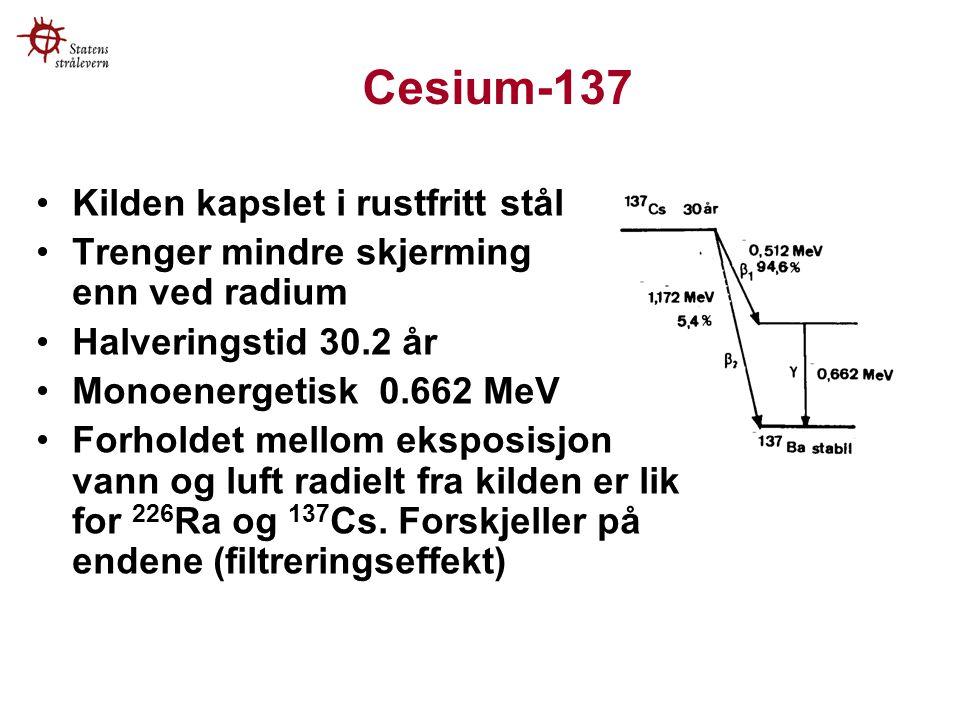 Cesium-137 Kilden kapslet i rustfritt stål