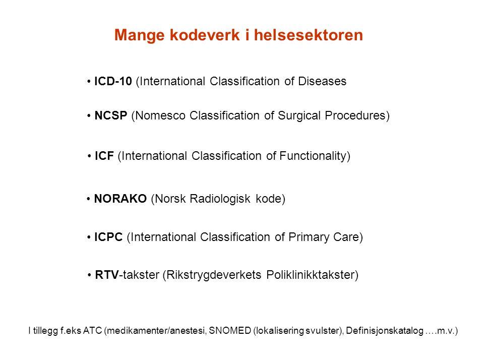 Mange kodeverk i helsesektoren