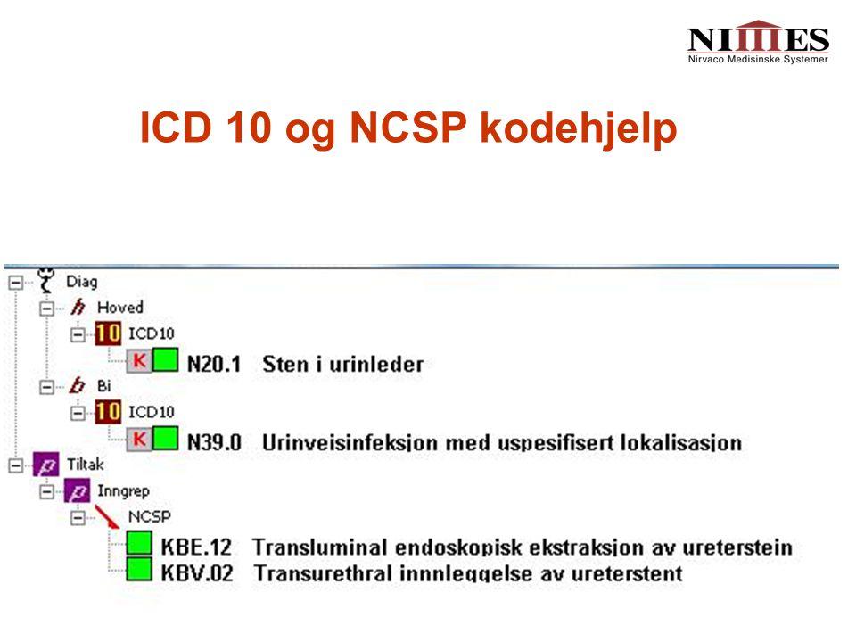 ICD 10 og NCSP kodehjelp