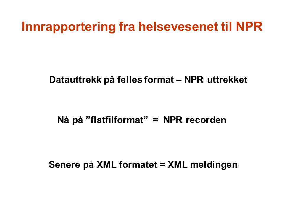 Innrapportering fra helsevesenet til NPR