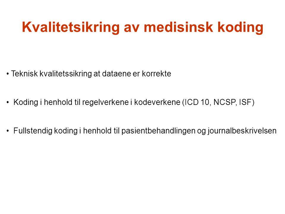 Kvalitetsikring av medisinsk koding