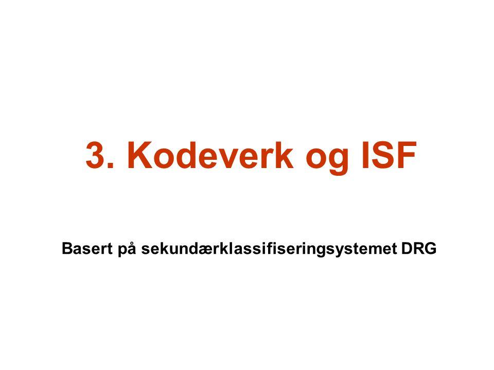 Basert på sekundærklassifiseringsystemet DRG