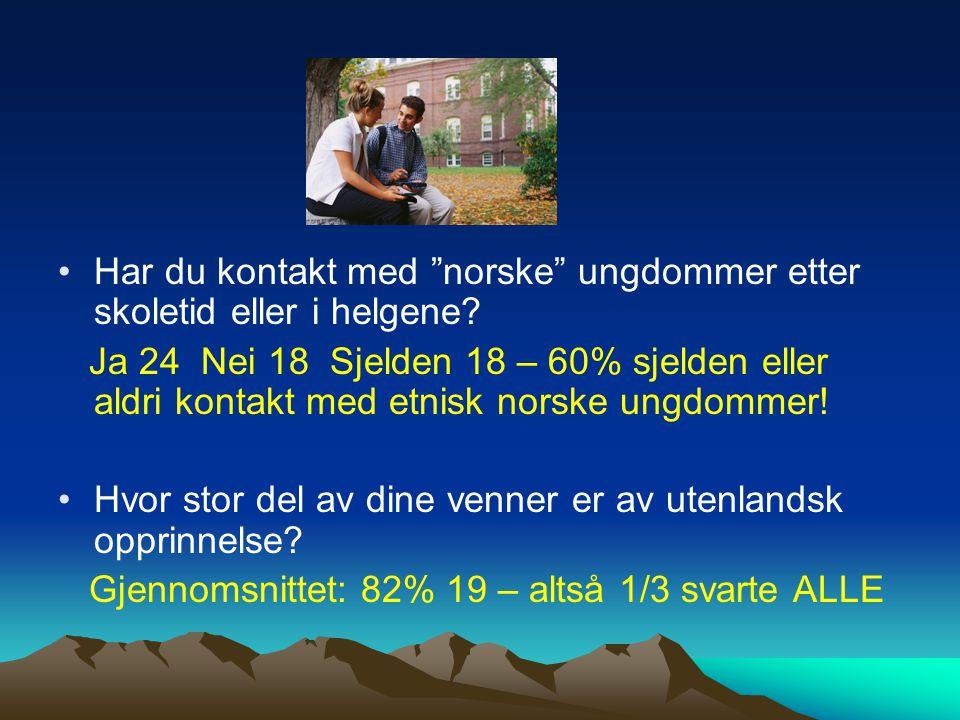 Har du kontakt med norske ungdommer etter skoletid eller i helgene