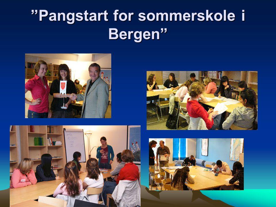 Pangstart for sommerskole i Bergen