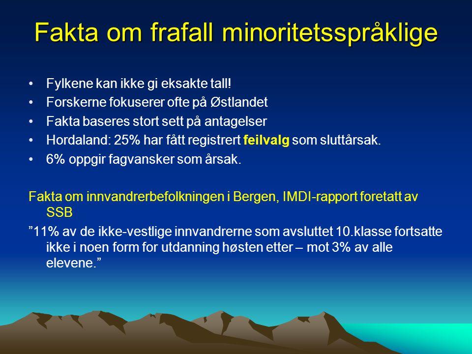 Fakta om frafall minoritetsspråklige