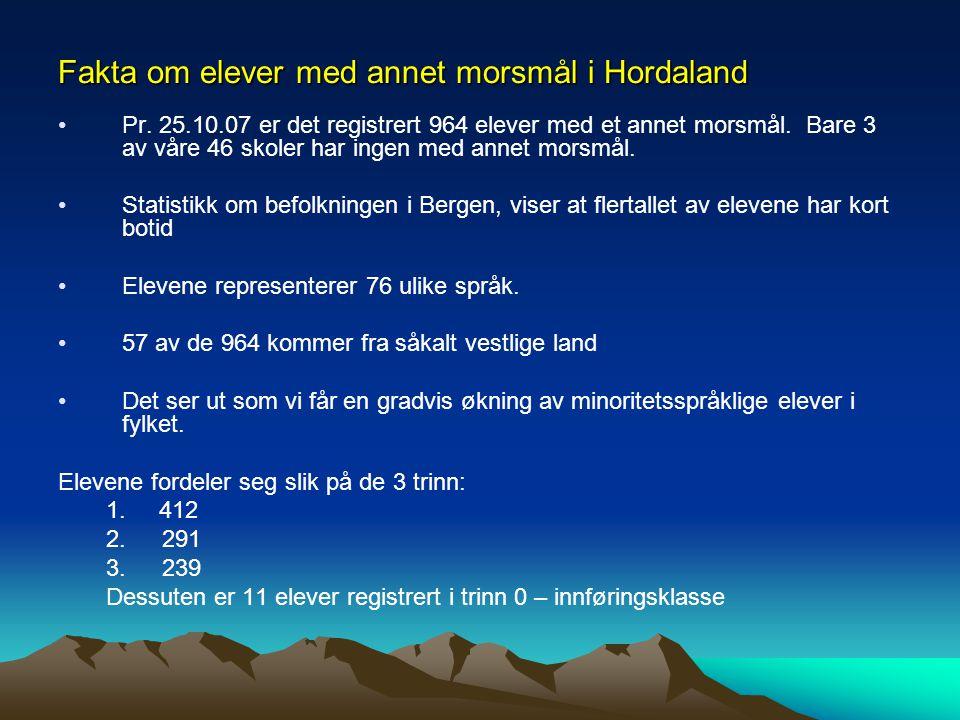Fakta om elever med annet morsmål i Hordaland