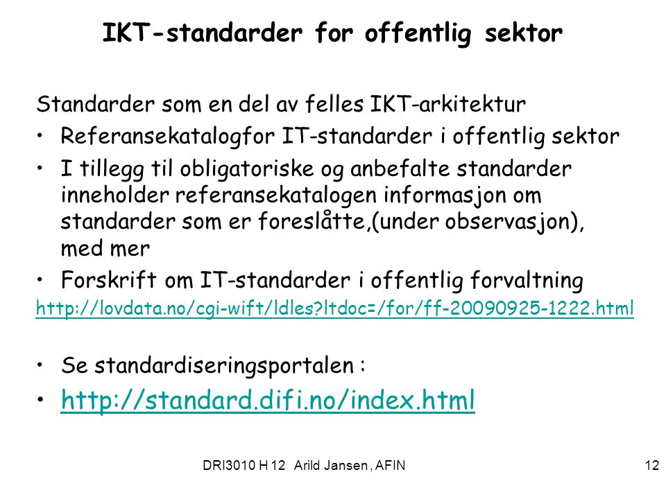 IKT-standarder for offentlig sektor