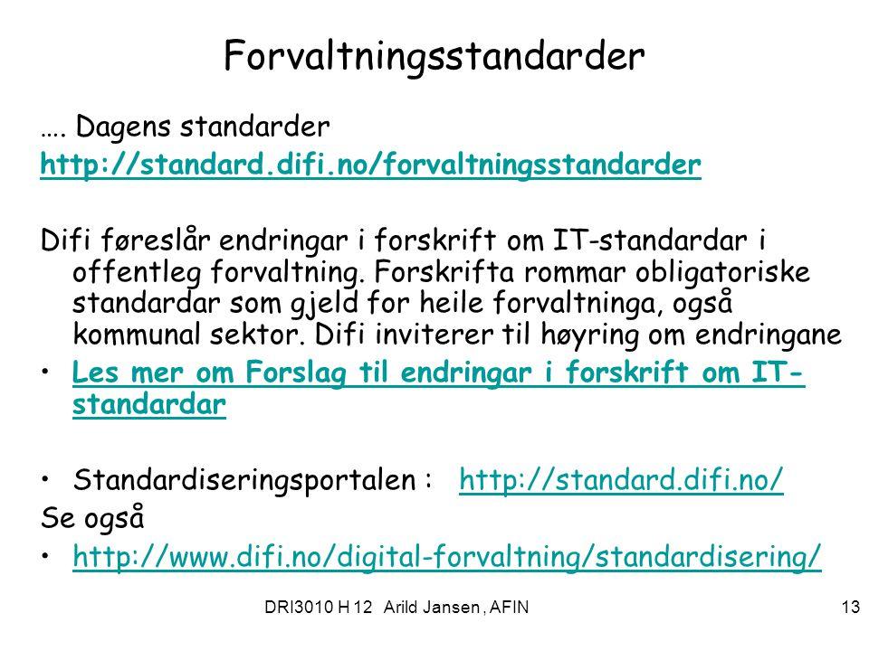 Forvaltningsstandarder