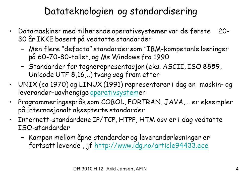 Datateknologien og standardisering