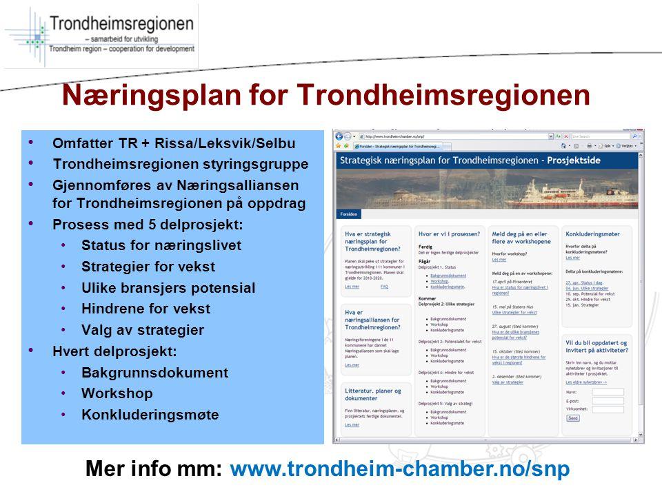Næringsplan for Trondheimsregionen
