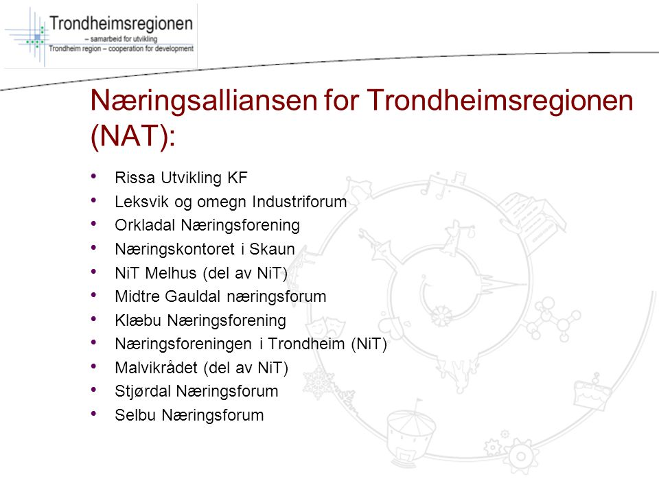 Næringsalliansen for Trondheimsregionen (NAT):