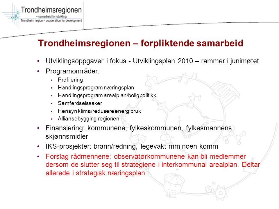 Trondheimsregionen – forpliktende samarbeid