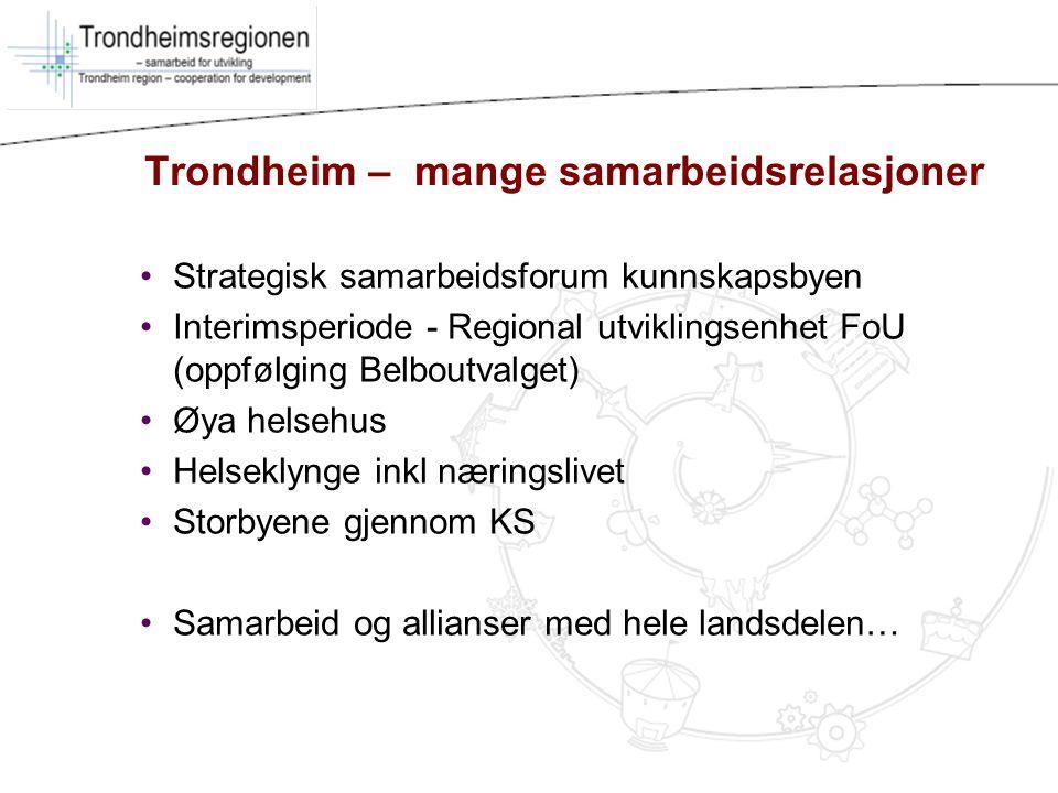 Trondheim – mange samarbeidsrelasjoner